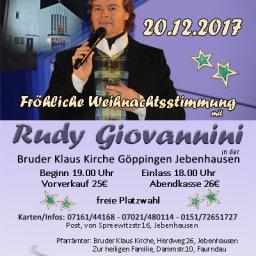 Fröhliche Weihnachtsstimmung mit Rudy Giovannini