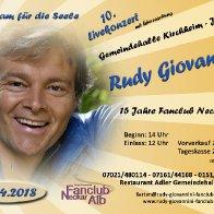 Jubiläumskonzert mit Rudy Giovannini in 73230 Kirchheim-Jesingen.