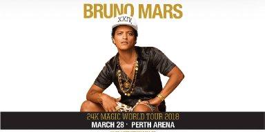 Bruno Mars In Perth