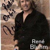 Autogrammkarte Rene Bluhm