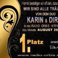 Urkunde Duo Karin und Dirk