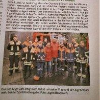 Zeitungsbericht Spende vom Hoffest