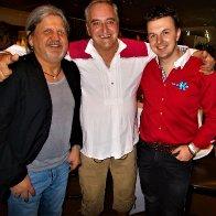 Gert Emig mit Fredy Pister (ehm.Zillertaler Schürzenjäger) und Mario K. beim Grand Prix in Innsbruck