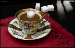 Zucker im Kaffee